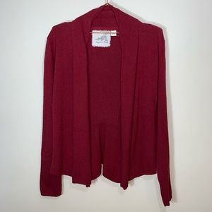 Anthropologie Angel Of The North Open Cardigan L